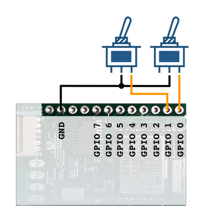 GPIO switch schematic